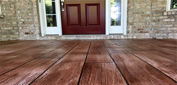 Wood Stamped Concrete Concrete Wood Flooring Contractor