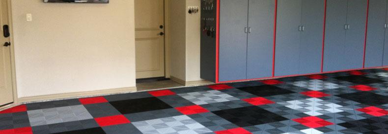 Garage Floor Snap Tiles