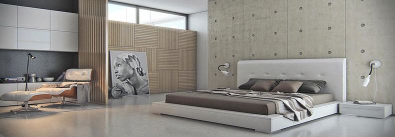 Polished Concrete Bedroom